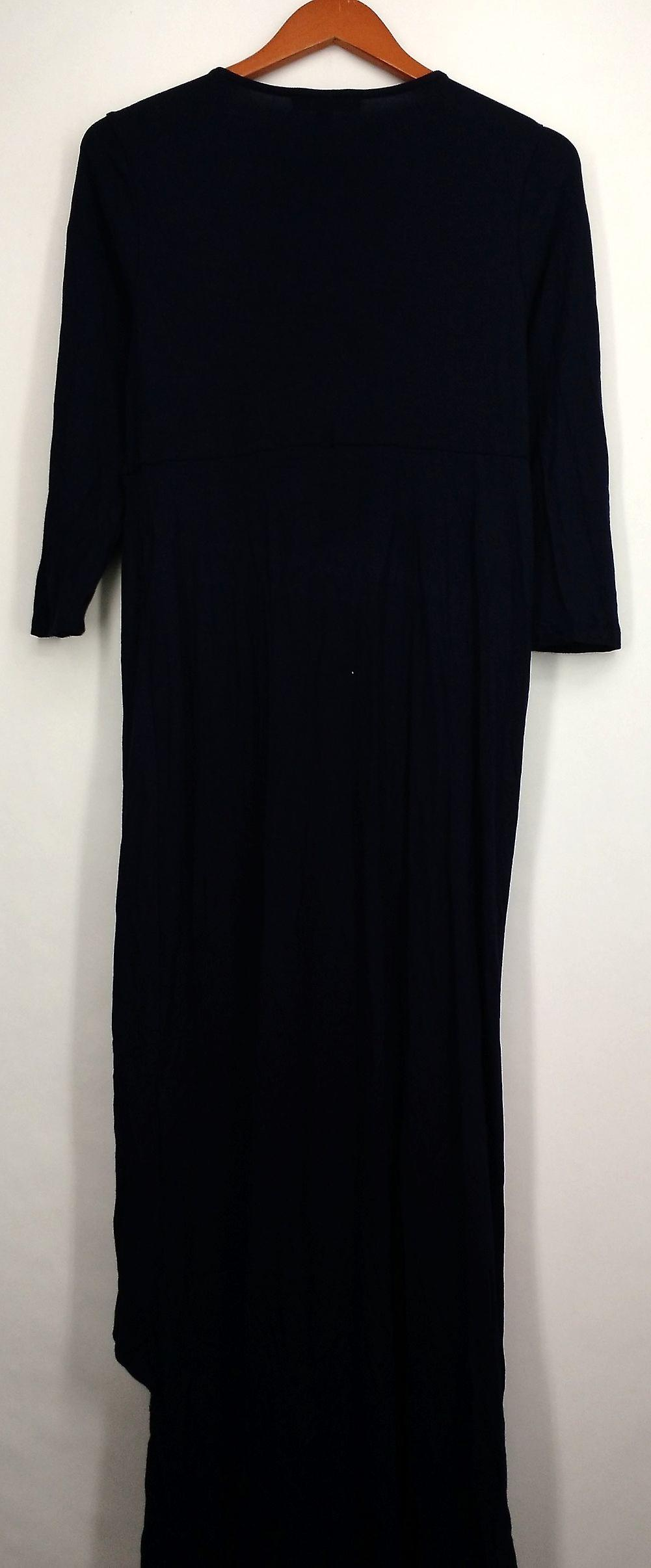 Kate & Mallory Dress 3/4 Sleeve w/ Twist Front Center Navy Blue A428763