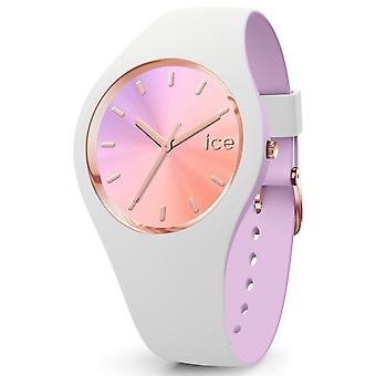 Ice duo chic Quartz Analog Woman Watch with IC016978 Rubber Bracelet