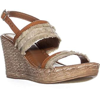 Easy Street Womens Zaira Fabric Open Toe Casual Platform Sandals