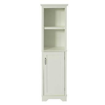 SoBuy Floor Standing Tall Bathroom Storage Cabinet with 2 Shelves 1 Cabinet,BZR28-MI