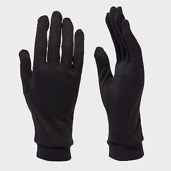 New Trekmates Unisex Silk Gloves Black