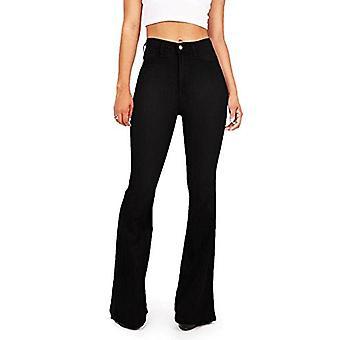 Reveal Women's Classic High Waist Flare Denim Jeans Bell Bottoms (BK 5)