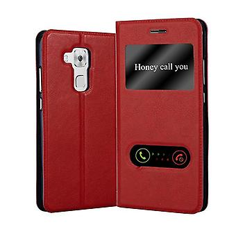 Cadorabo Case for Huawei NOVA PLUS Case Cover - Phone Case with Magnetic Closure, Stand Function and 2 Viewing Windows - Case Cover Case Case Case Case Case Book Folding Style