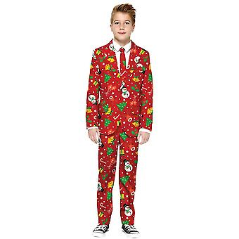 Boys Christmas Red Suit