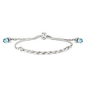 3,5 mm 925 sterling zilver gedraaid gepolijst vouw over verstelbare reflecties blauwe kristallen Adj. armband sieraden geschenken fo