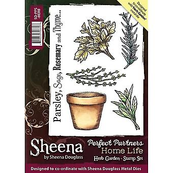 Sheena Douglass Perfect partners Home Life A6 gummistämpel set-Herb Garden
