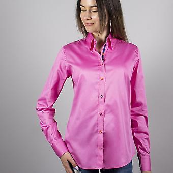 Claudio Lugli Plain Ladies Shirt With Bubbles Insert