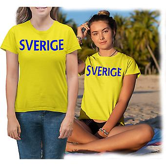 Sweden yellow Lady T-shirt