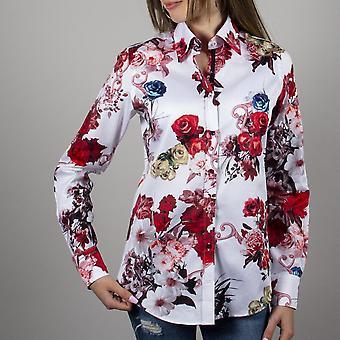 Claudio Lugli Rose Flower Ladies Shirt