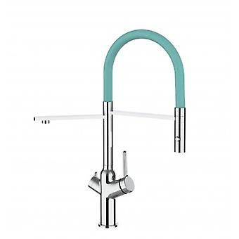 3 Way Kitchen Filter Sink Mixer Turquoise Tiffany Spout And 2 Jet Spray, Works With All Water Filter System - 382