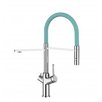 3 tapa keittiö suodatin pesu allas mikseri turkoosi Tiffany nokka ja 2 Jet spray, toimii kaikkien veden suodatin järjestelmä-382