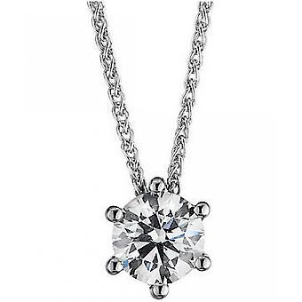الماس كولير كولير - 14K 585 الذهب الأبيض - 0.52 قيراط.