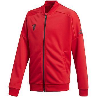 adidas Performance Boys Manchester United Football Long Sleeve Track Jacket -Rouge