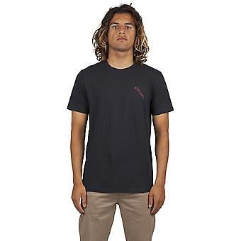 Rip Curl set up korte mouwen T-shirt in washed Black