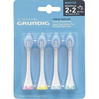Grundig TBB80 Medium Electric toothbrush brush attachments 4 pc(s) White