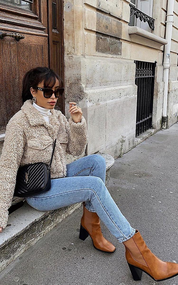 IKRUSH Womens Serena Faux Leather Heeled Boots GYE2N