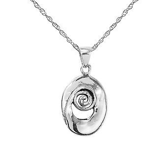 Celtic spiral halskæde vedhæng ' iseabeal '-indeholder en 20