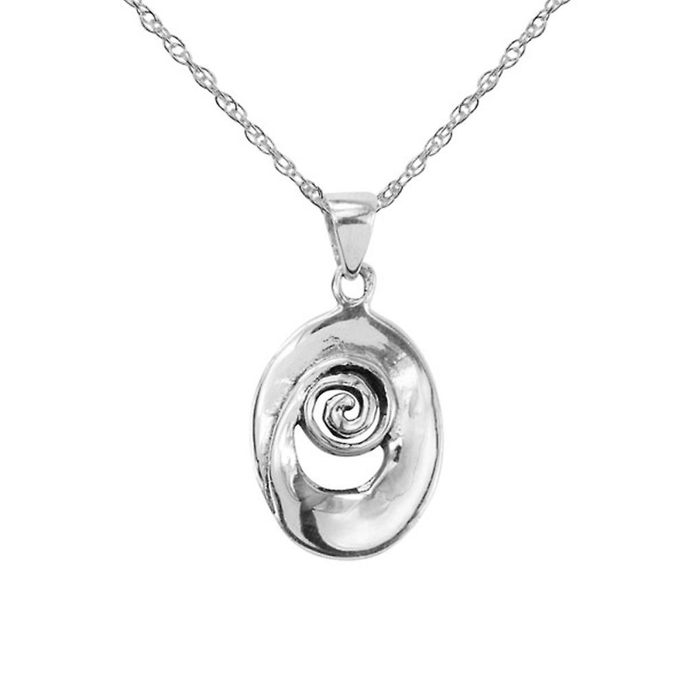 Celtic Spiral Necklace Pendant 'Iseabeal' - Includes A 20