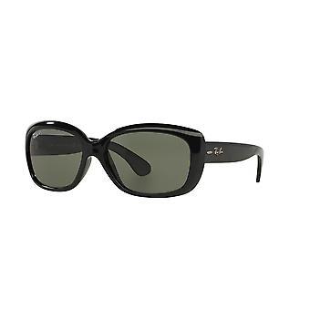 Ray-Ban Jackie OHH RB4101 601/58 Schwarz/Grün Polarisierte Sonnenbrille