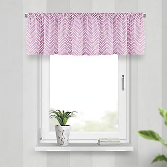 Meesoz Valance - Layer Zigzag Pink