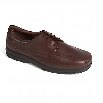Padders Dexter Mens Leather Extra Wide (h/k) Shoes Brown