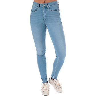 Womens Only Royal High Skinny Jeans In Light Blue Denim