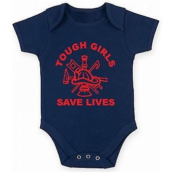 Body newborn navy blue fun1428 fire girls are tough