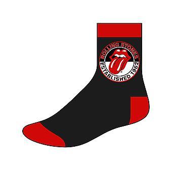 The Rolling Stones calcetines para hombre establecidos 1962 logotipo oficial del Reino Unido tamaño 7-11 negro