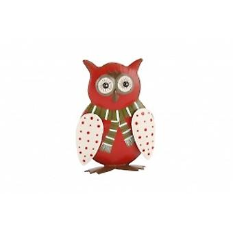 Cute Christmas Owl Standing Home Decoration