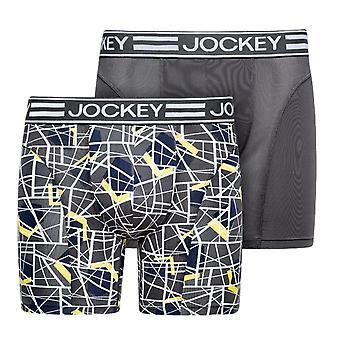 Jockey microfiber Active sport Boxer trunk 2-pack-mörkt järn