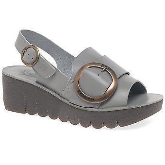 Fly London Yidi Womens Wedge Heel Sandals