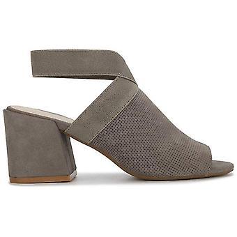 Kenneth Cole New York Women's Hannon Elastic Ankle Strap Heeled Sandal, Grey ...