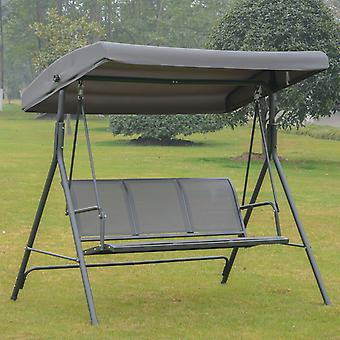 Outsunny 3 Seater Swing Chair Garden Hammock Canopy Patio Outdoor Bench Seat