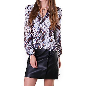 Ted Baker Womens Lyzaa Quartz Printed Neck Tie Blouse