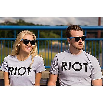 Riot T shirt Funny Shirts for Men Political Novelty Tees Humor,Large,Grey
