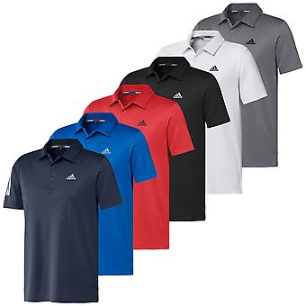 adidas Golf Herre 2020 3-Stripe Basic Mid-Weight Soft Stretch 3-knap Polo shirt
