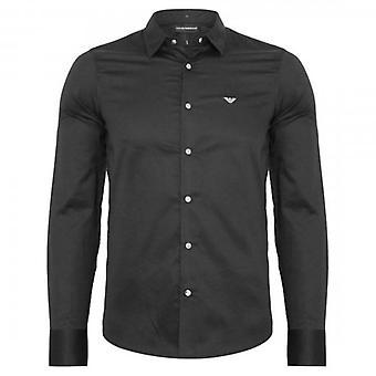 Emporio Armani L/S Slim Fit Shirt Black 3G1CL0 1NHSZ
