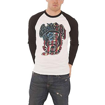 Drapeau de Logo de Monkey Monkey Garage T Shirt USA gaz chemise de baseball Mens officiel