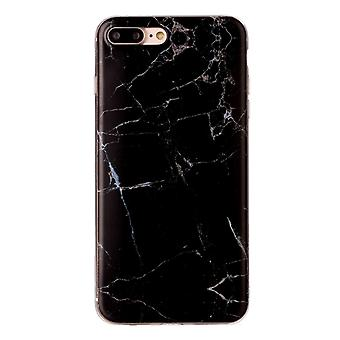 Svart marmor- skal för iPhone 7 plus