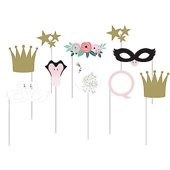 Swan Princess Party Paper Photo Booth Props x 10
