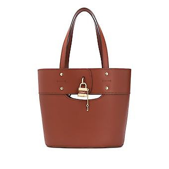 Chloé Chc20s22c4427s Women's Brown Leather Tote
