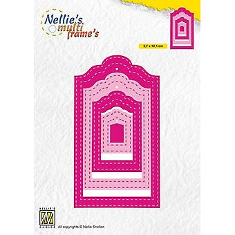 Nellie's Choice Multi Frame Die - Tag Stiched MFD133 57x101mm