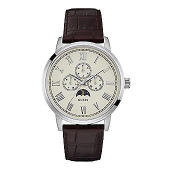 Guess Classic Analog quartz men's watch with leather W0870G1