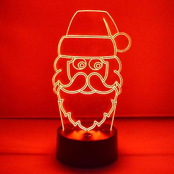 Jolly Santa hoved Christmas farve skiftende LED akryl lys