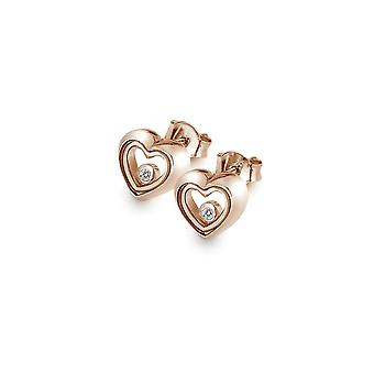 Anais Hot Diamonds Anais Rose Gold Plated Encase Earrings AE014