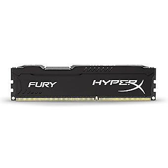 HyperX HX316C10FB/4 Fury 4 GB, 1600 MHz, DDR3, CL10, UDIMM, 1.35V, Black