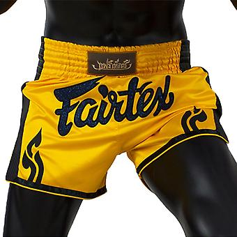Fairtex BS1701 Slim Cut muay tajski szorty żółty