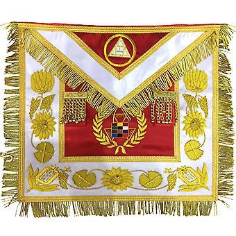 Verleden hogepriester schort, koninklijke boog schort hand embroidred php schort
