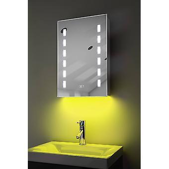 Reloj gabinete con LED bajo iluminación, antivaho, Sensor y la máquina de afeitar k385