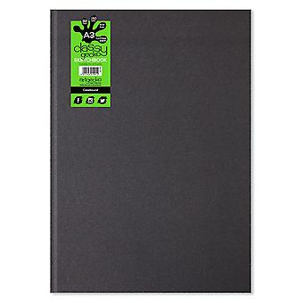 Artgecko tyylikäs Gecko a3 muoto kuva Casebound Sketchbook